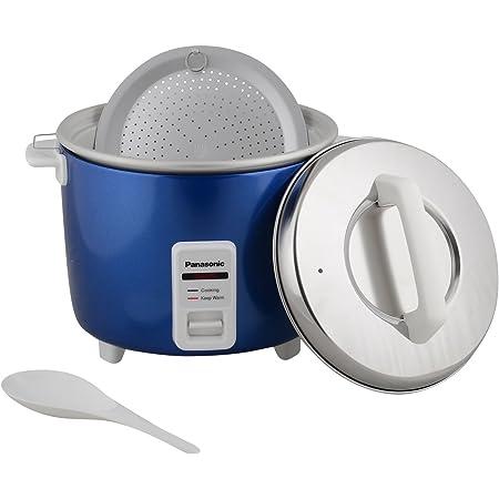 Panasonic 660-Watt Automatic Cooker Warmer Capacity 1.8 L (upto 1kg uncooked rice) Color Blue Model-SR-WA18H(E)