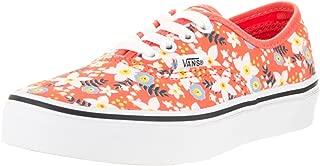 Vans Kids' Authentic Floral Pop Living Coral Canvas Skate Shoe 13 Orange