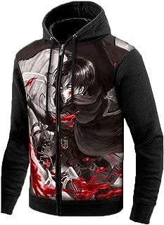 Attack on Titan Anime Zip Hoodie Jacket Adult Cosplay Luminous Sweatshirt