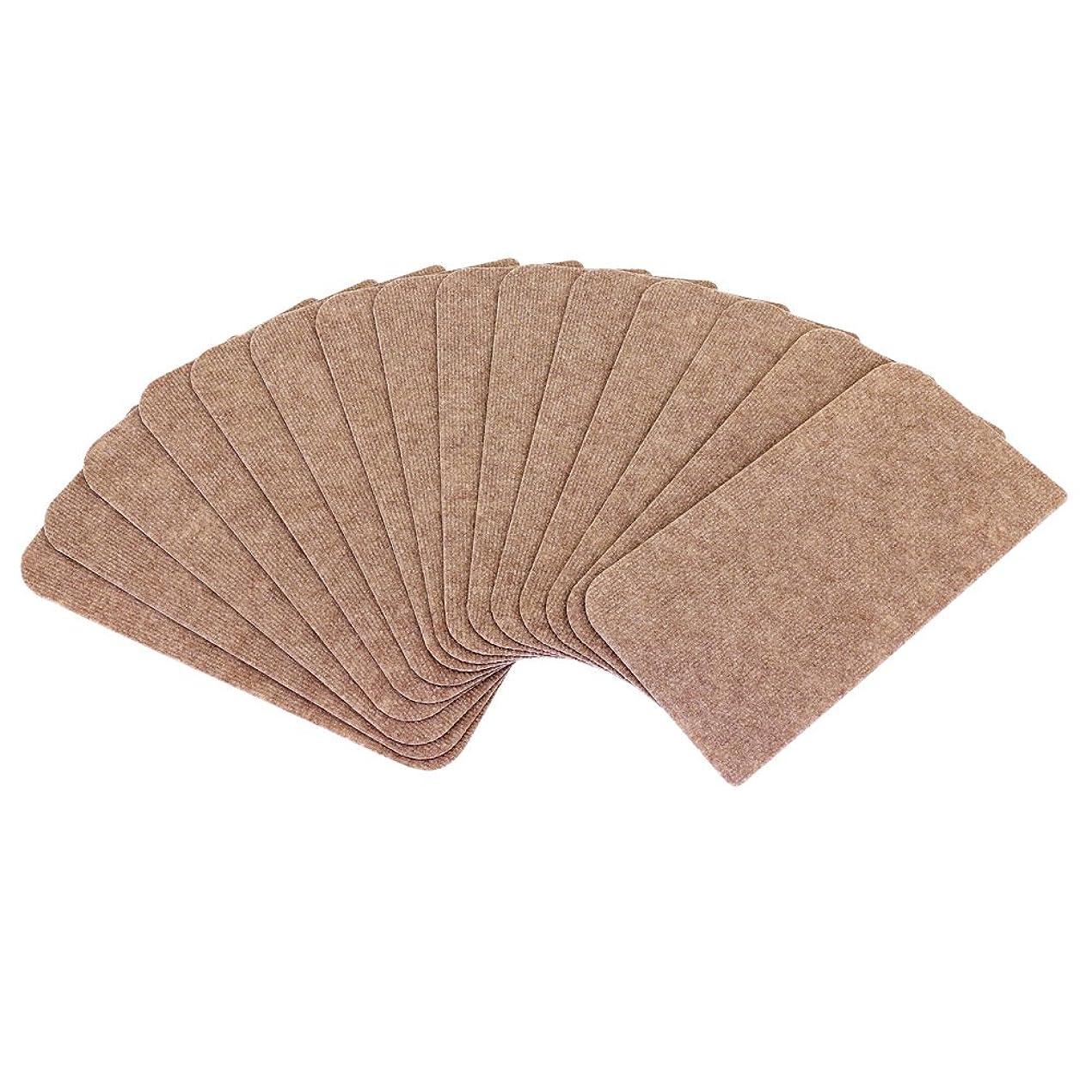 奴隷大声で借りる山五 滑り止め 吸着加工 階段用 ブラウン色 洗えるカーペット 薄手 15枚入り 45×22cm
