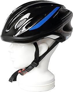 オージーケーカブト(OGK KABUTO) 自転車 ヘルメット スクール用 SN-10 ブラック 青テープ付き サイズ:56~58cm