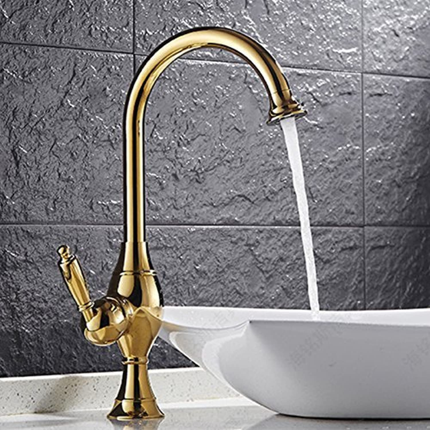 Two of The color of Money & Cysdv Blacck Mixer Kitchen Sink of Good Quality and The Performance of wash Basin Faucet Dona, gold