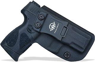 Taurus G2C Holsters, IWB Kydex Holster For Taurus G2C 9mm & Millennium PT111 G2 / PT140 - Inside Waistband Concealed Carry - Kydex Holster Taurus PT111 G2C IWB - Cover Mag-Button, No Wear, No Jitter