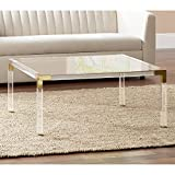 Hanna 40' Square Clear Acrylic Modern Coffee Table - 55 Downing Street
