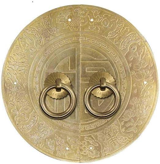 Retro Aldaba Dise/ño cl/ásico herrajes para puertas Hardware decoraci/ón Puerta delantera Interior Caj/ón Aldaba Guardarropa hogar-S -Lat/ón tornillo
