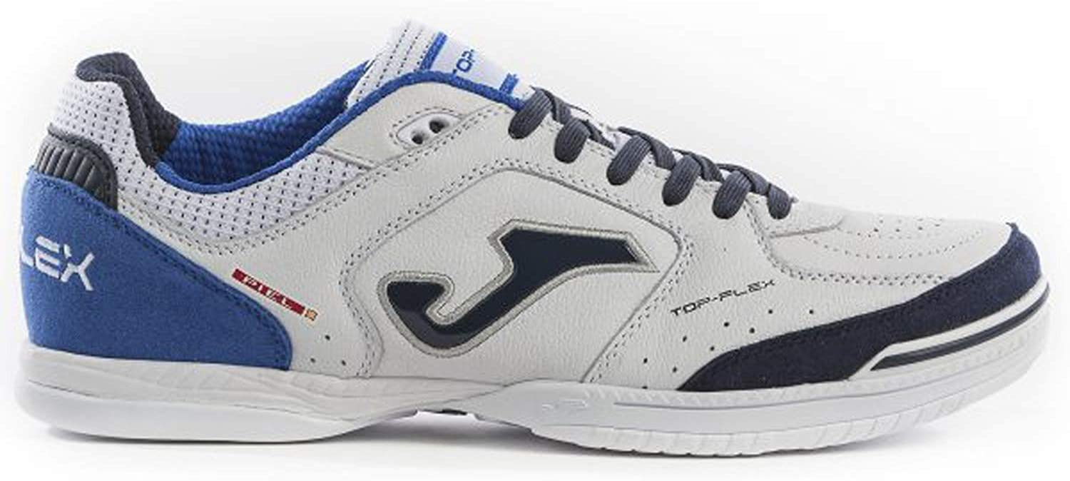 Joma Football shoes TOP Flex Indoor 932 White-Royal Calcetto Scarpa