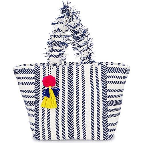 CODELLO Canvas Beach Bag mit Fransenhenkeln