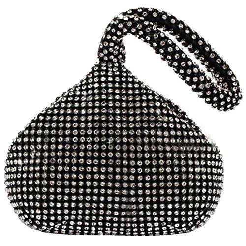 ERGEOB Damen Clutch Kreatives Design Diamant/Aluminium Handtasche Abendtasche Dreiflächner Partytasche