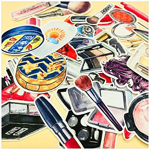 JIAQI Retro Makeup Cosmetics Lippenstift Aufkleber DIY Craft Scrapbooking Album Junk Journal Planner Dekorative Aufkleber 37Stücke / Pack