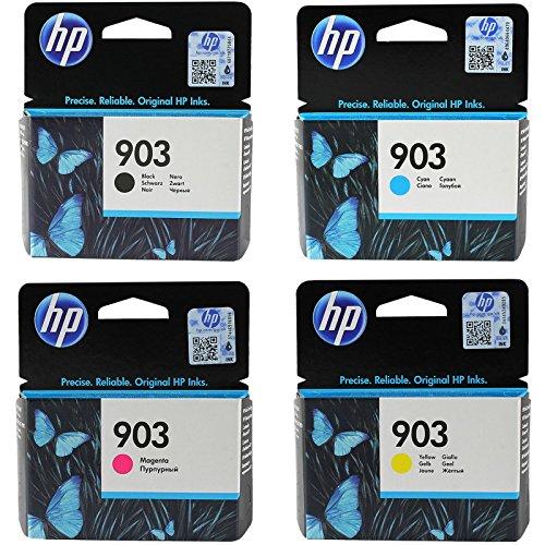Multipack 4 Cartucce HP ORIGINALI 903 NERO + COLORI T6L99AE T6L87AE T6L91AE T6L95AE