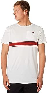 Banks Men's Cresent Mens Tee Crew Neck Short Sleeve Cotton Polyester White