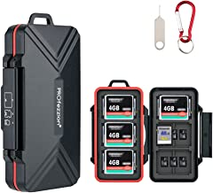 PROfezzion 36 Slots Memory Card Case, SD Card Holder for 12 SD /SDXC /SDHC & 18 Micro SD /TF & 6 CF /Cfast Cards, Water-Re...