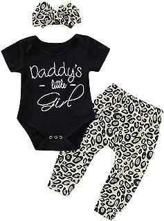 HWTOP Kinderkleidung Outfits Set Newborn Toddler Infant Baby Girls Letter Print Tops Headband Pants