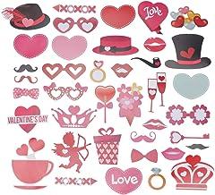 Acessórios de fotos de Dia dos Namorados da Amosfun, acessórios criativos para casamento, fotos de selfie, damas de honra,...