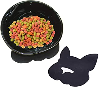 YMAXGO Ceramics Single Food Feeding Bowl for Flat Face Dogs/Cats, Non-Slip Design