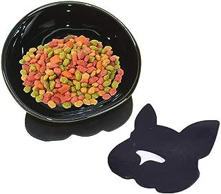 YMAXGO Ceramics Single Food Feeding Bowl for Flat Face Dogs/Cats, Non-Slip Design