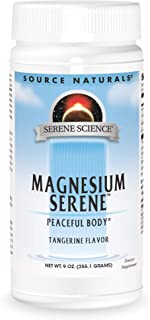 Source Naturals Serene Science Magnesium Serene Tangerince Flavored, Peaceful Body, 9 Ounces