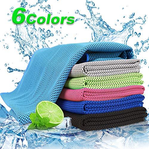 Cooling Towel für Sport & Fitness   30x100cm Kühltuch Handtuch/Mikrofaser Handtuch kühlend   Eistuch, Weiches, Atmungsaktives Kühlende handtücher für Yoga, Laufen, Outdoor Sports(Himmelblau)