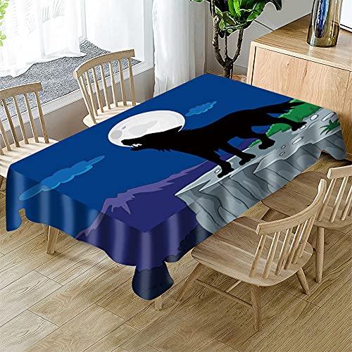 Mantel navideño Rectangular Cocina Mantel navideñopara mesas de Interior o Exterior, Fiestas de cumpleaños, Bodas, Navidad 150 x 250cm