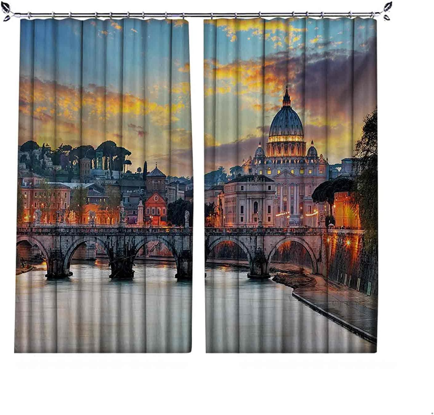 Pleated Heat Insulation Italy Rome 25% OFF Curtains Vie Vatican Daily bargain sale