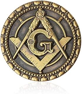 Square Compass Mason Freemasons Masonic Lapel Pin Badge Blue Lodge Gift