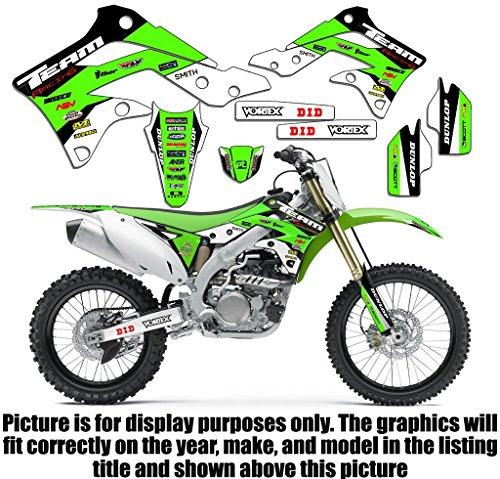 Team Racing Graphics kit compatible with Kawasaki 2008-2018 KLX 140 & 140L, EVOLV