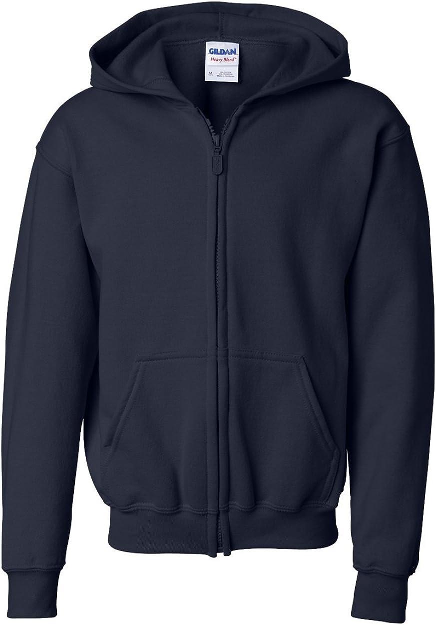 Heavy Blend Full Zip Hooded Sweatshirt (G186B) Navy, L (Pack of 12)