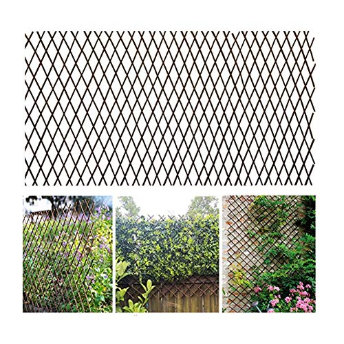 Open Screen Willow Fencing, Willow Expandable Trellis Fence, Expandable Garden Trellis Plant Support Willow Lattice Fence Panel for Climbing Plants Vine Ivy Rose Cucumbers Clematis (Medium)