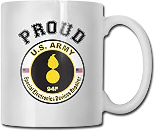 DSJRKSKEE Army MOS 94F Special Electronics Devices Repairer Funny Gift Mug White Ceramic Cup 11 Oz