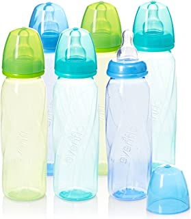 Evenflo Feeding Premium Proflo Vented Plus Polypropylene Baby, Newborn and Infant Bottles - Helps Reduce Colic - Teal/Gree...