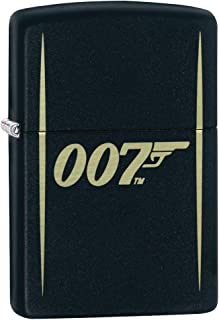Zippo Lighter: James Bond 007 Engraved - Black Matte 80916