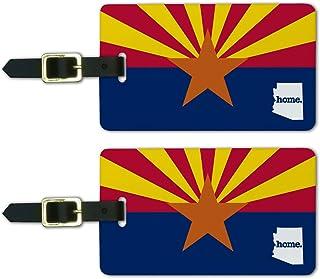 Graphics & More Arizona Az Home State Luggage Suitcase Id Tags - Flag, White