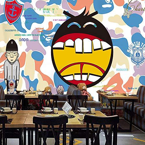 XLXBH 3D-behang zelfklevend wandschilderij foto Japanse militaire camouflage 3D vlot merk behang slaapkamer hal café bar ktv behang wandschilderij kinderkamer kantoor eetkamer woonkamer decoratieve wand K 300x210 cm (BxH) 6 Streifen - selbstklebend