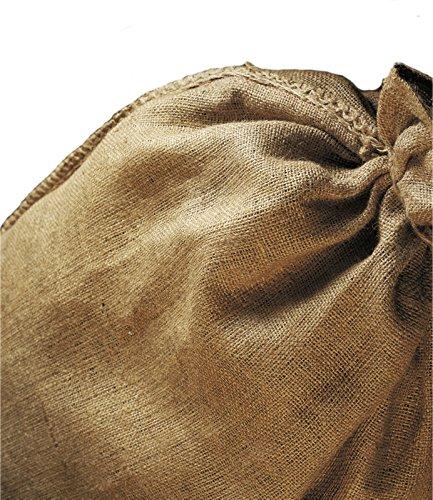 NOOR Jutesäcke Natur I SB-Pack Größe S (60 x 105cm) I 3 Gartensäcke zur Lagerung von Gartenabfällen I Lebensmittelsichere Jutetasche mit gesäumter Öffnung I Wiederverwendbar und recycelbar