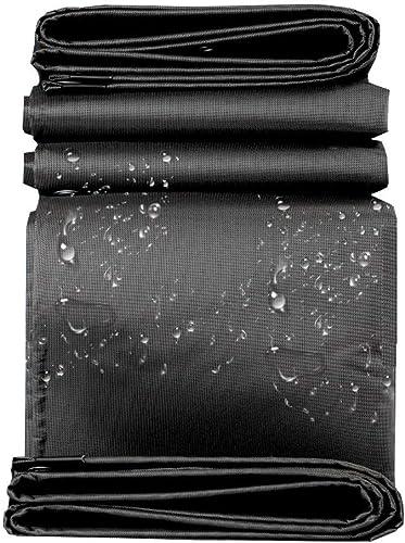 DJSMpb Baches Bache Robuste en Tissu Oxford à Bords renforcés, imperméable, bache pour Bateau, Toit pour Camion, 550 g, 0,66 mm, Noir (Taille   4mx5M)