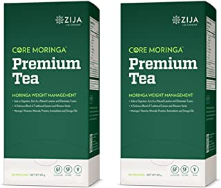 Zija Premium Core Moringa Weight Management Tea - Double Pack - 60 Tea Bags