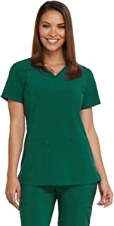 EDS Essentials Women's V-Neck Solid Scrub Top