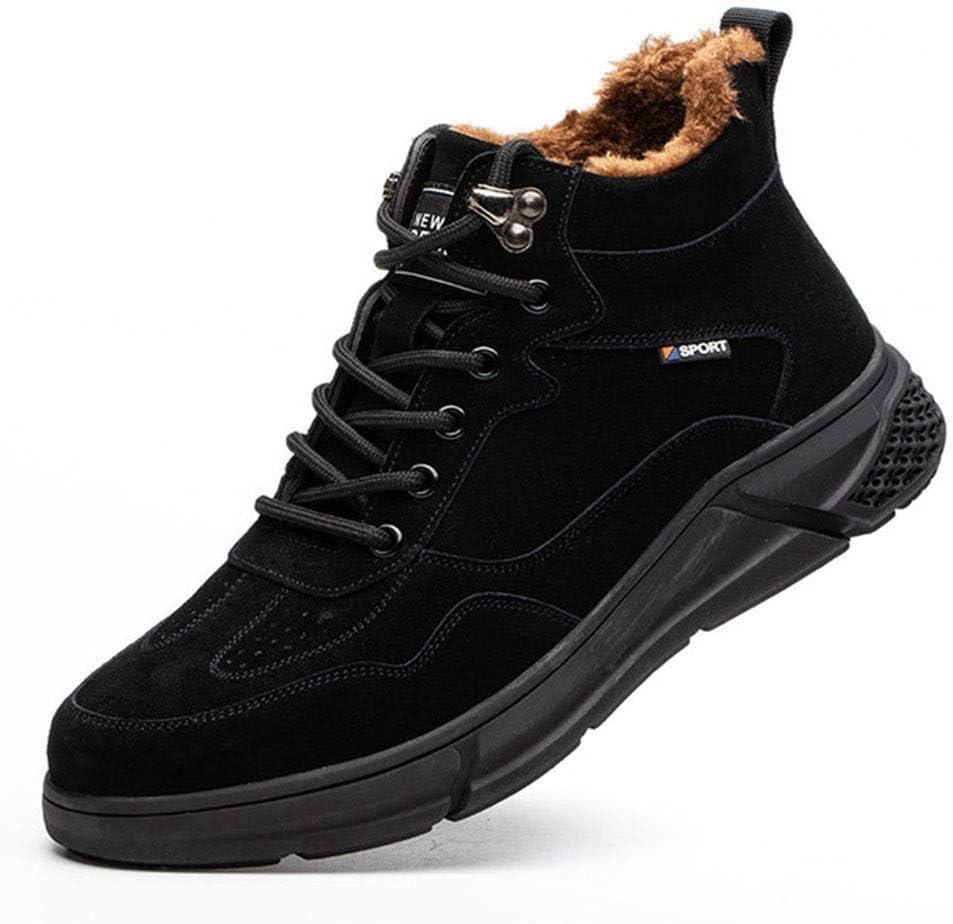 Men's Work Boots Winter Warm Outdoor Pu Anti Smash and Max 43% OFF Steel Toe Popular overseas