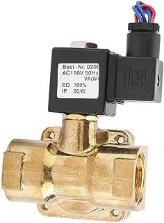 ソレノイドバルブ DC12V/24V AC110V/220V G1 1.6MPA 2ウェイN / Cダイアフラム 電磁弁 ソレノイド レギュレータ 汎用 小型 直動式 水/圧縮空気/石油/ガス適応 耐圧16KG(AC110V)