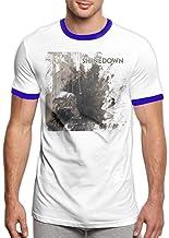 Shinedown Cut The Cord Men's Music Rock Band Logo Fashion Short Sleeve Shirt Black,Camisetas y Tops