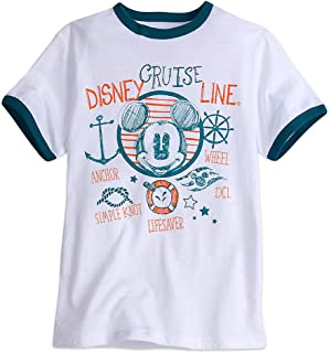 Cruise Line Mickey Mouse Ringer Tee Shirt Boys Girls Youth XS White