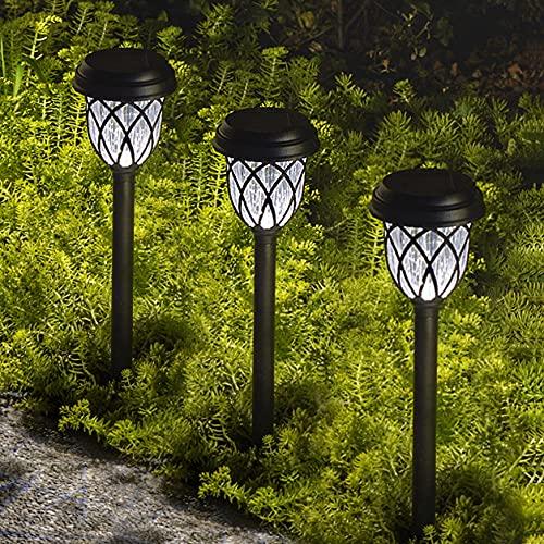 10 Pack Solar Lights Outdoor Garden Pathway Solar Powered Yard Lights for Walkway Sidewalk Driveway.