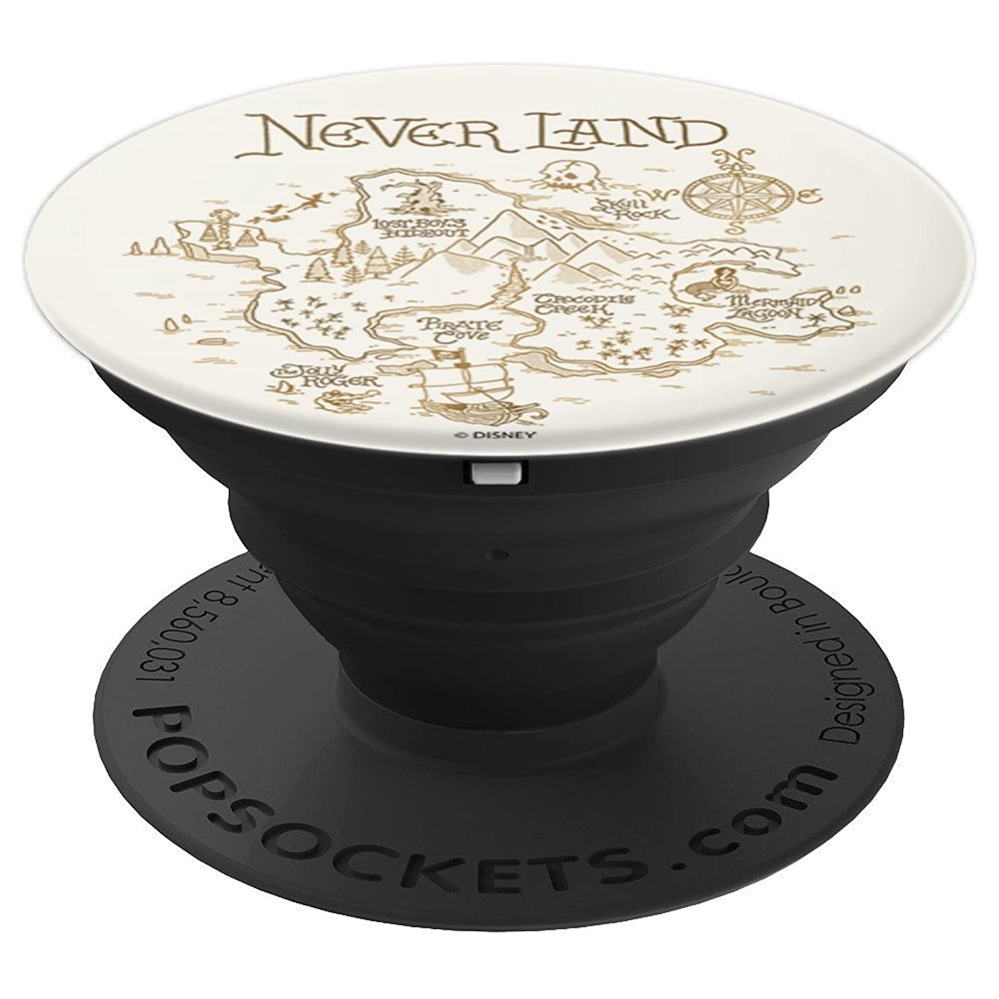 Disney Peter Pan Never Land Map And Compass - PopSockets Grip and Stand for Phones and Tablets