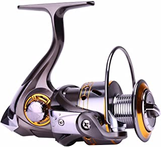 Fishing Reel 12+1 Ball Bearings, Rated for Saltwater and Freshwater Fishing with Left Right Interchangeable CNC Collapsible Handle from 4000 to 6000 Series
