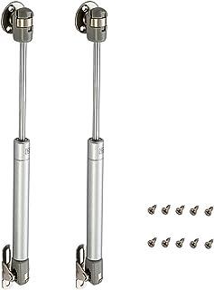 2PCS Amortiguadores de Gas 100N Resorte de Compresión para Puertas Armario Bisagras Resortes Armario con Tornillos Pist...