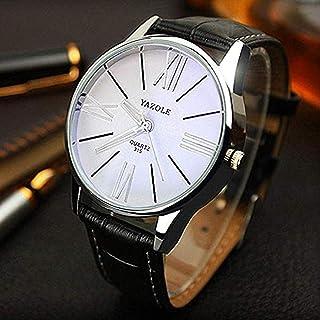 Scpink Orologio da uomo d'affari britannico Orologio al quarzo impermeabile con specchio Zaffiro Casual orologio selvaggio...