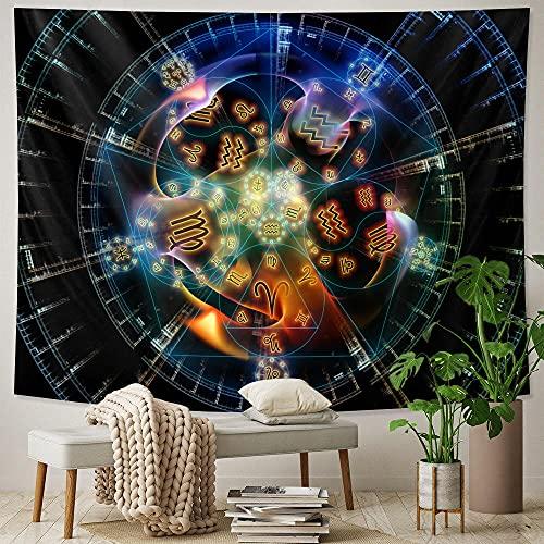 Escena Psicodélica Hogar Art Deco Tapiz Brujería Tapiz Hippie Bohemio Decoración Mandala Sofá Manta Qyy-134