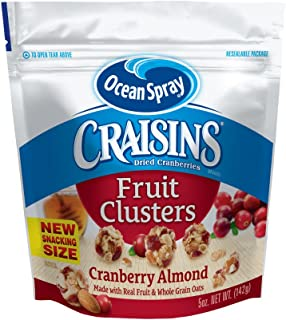 Ocean Spray Craisins Dried Cranberries Fruit Clusters, Cranberry Almond, 5 Ounce (Pack of 12)