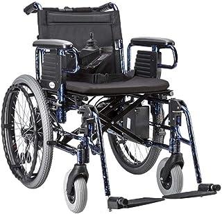 HDGZ Silla de Ruedas eléctrica Cuidado portátil Plegable Scooter de Cuatro Ruedas, aleación de Aluminio Ancianos discapacitados Silla de Ruedas Batería Desmontable Silla de Ruedas