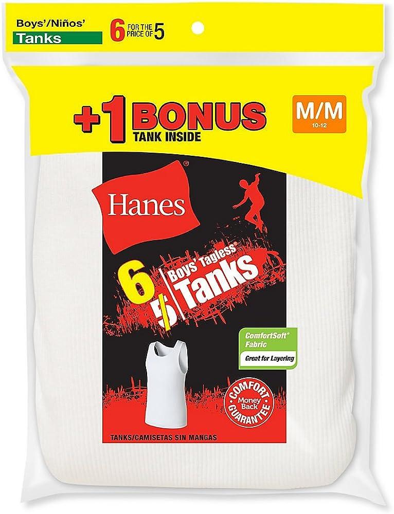 Hanes Boys Tagless ComfortSoft 6-Pack A-Shirt